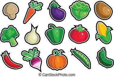 verdura, icone