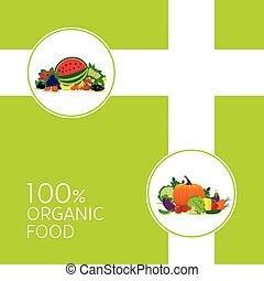 verdura, illutration, frutta, organico