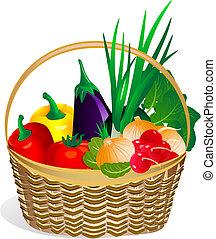 verdura, in, il, basket2