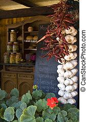 verdura, in, mercato