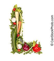 verdura, lettera