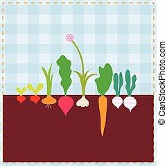 verdura, letto