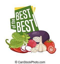 verdura, manifesto, fresco, meglio, scontare