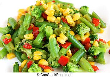 verdura, miscelare, cotto