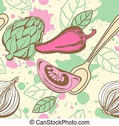 verdura, modello, seamless