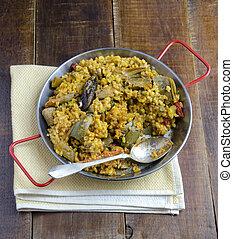 verdura, paella