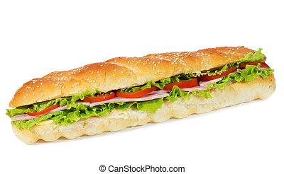 verdura, panino, prosciutto
