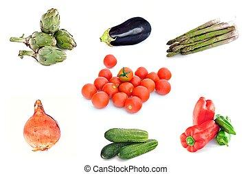 verdura, piastra
