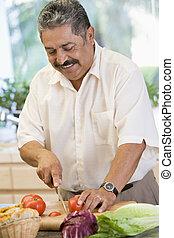 verdura, soppressione dei bit di peso minore, uomo