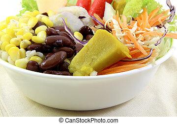 verdura, stoffa, su, insalata, chiudere