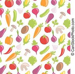 verdura, struttura, seamless, colorito