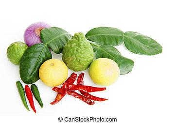 verdura, su, uno, sfondo bianco