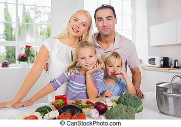 verdura, taglio, proposta, famiglia