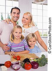 verdura, taglio, proposta, famiglia, insieme