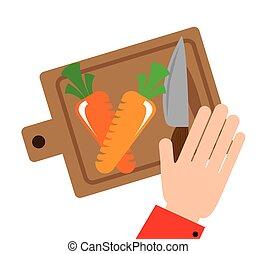 verdura, taglio