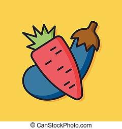 verdura, vettore, insalata, icona
