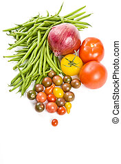 verduras cruas sortidas