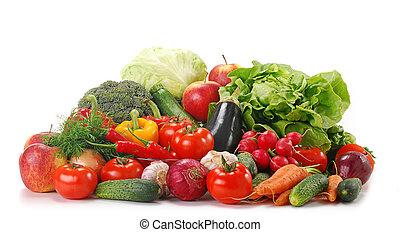 verduras crudas, variedad