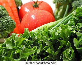 verduras frescas, mojado