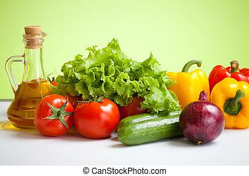 verduras frescas, naturaleza muerta