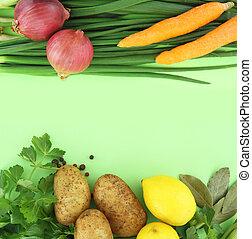verduras frescas, plano de fondo