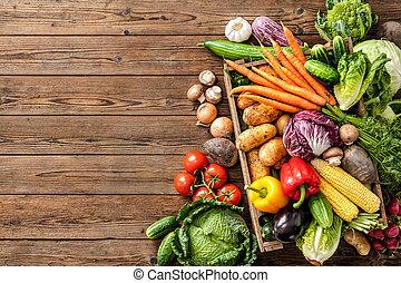 verduras frescas, surtido