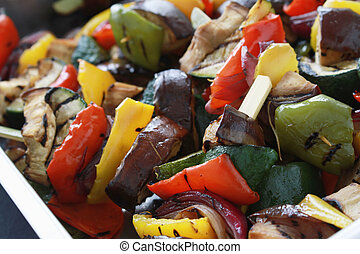 verduras mezcladas, cacerola, asado