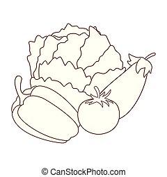 verdure fresche, cartone animato