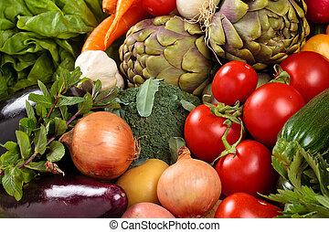 verdure fresche, fondo.