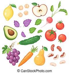 verdure fresche, frutte