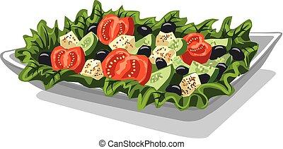 verdure fresche, insalata