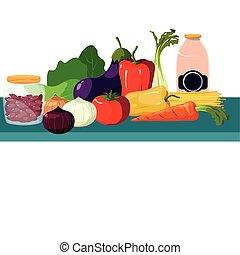 verdure fresche, prodotto, mercato, frutte
