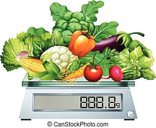 verdure fresche, scale