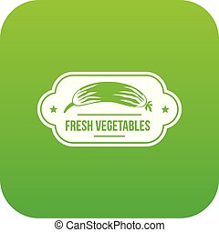 verdure fresche, vettore, verde, icona