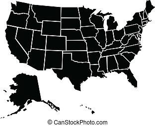 vereinigte staaten, landkarte