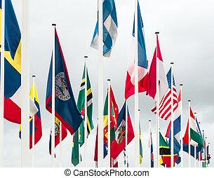 vereint, flaggen