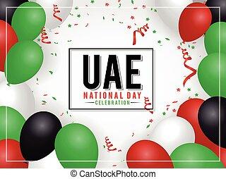vereint, national, araber, emirate, hintergrund, tag