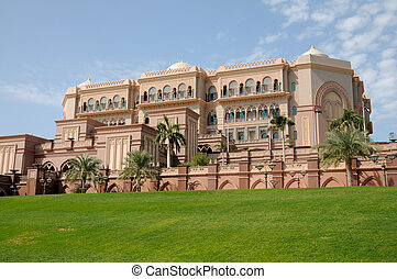 vereint, palast, araber, emirate, abu dhabi