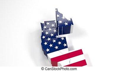 vereint, usa, washington, staaten, staat, amerika
