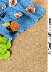vereiste, schnellen, hintergrund, pleiten, sandstrand, kolabaum