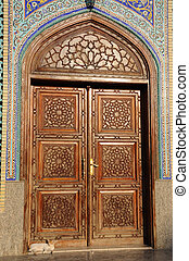 verenigd, deur, moskee, arabier, emiraten, dubai