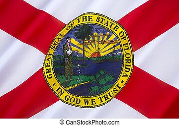 verenigd, florida, -, staten, vlag, amerika