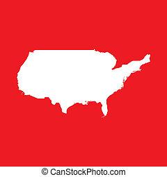 verenigd, illustratie, staten, achtergrond, amerika, rood