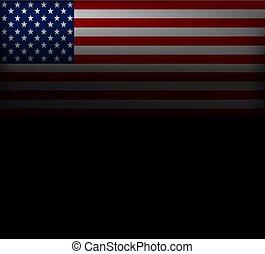 verenigd, illustration., star-spangled, flag., beeld, states., vlag, staten, achtergrond., america., vector, sterretjes, stripes., amerikaan, spandoek, usa.