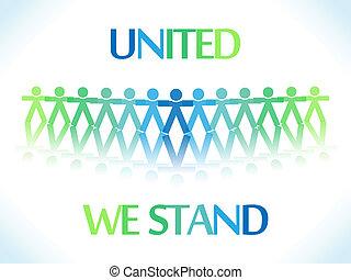 verenigd, mensen, iconen