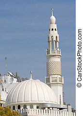 verenigd, moskee, arabier, emiraten, witte , dubai