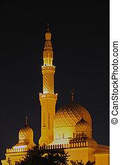 verenigd, moskee, jumeirah, arabier, emiraten, dubai