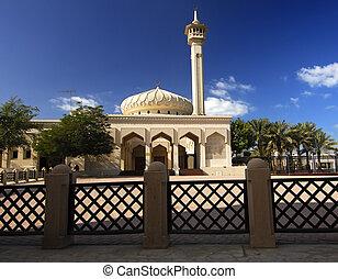 verenigd, moskee, koepel, arabier, emiraten, minaret, dubai