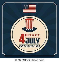 verenigd, stated, 4 juli, amerika, dag, onafhankelijkheid