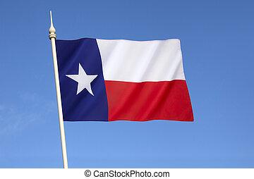 verenigd, -, vlag, staten, staat, amerika, texas